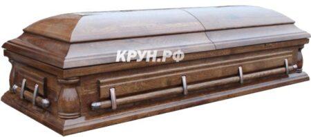 гроб двухкрышечный дубовый